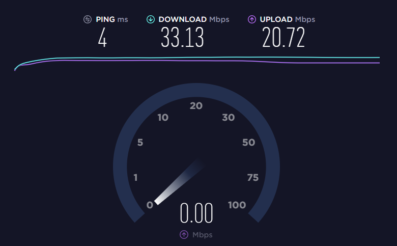 результаты speedtest с балкона