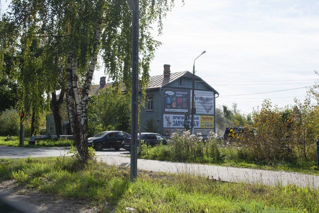 Реклама на фасаде домов