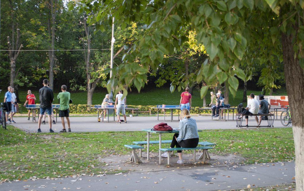 настольный теннис на набережной твери