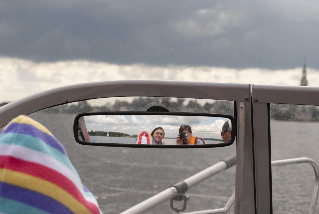 зеркало заднего вида в катере