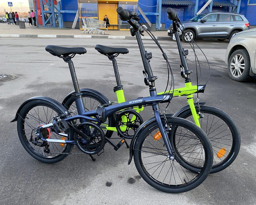 наши новые велосипеды btwin tilt 500