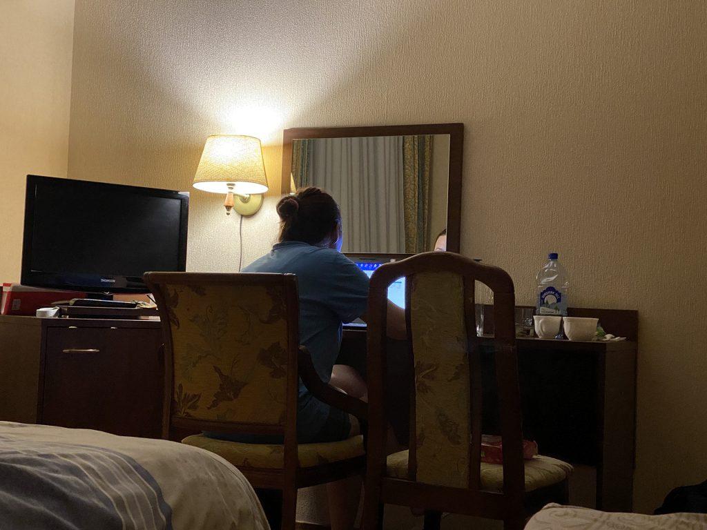 Ритуська работает в гостинице Тулы