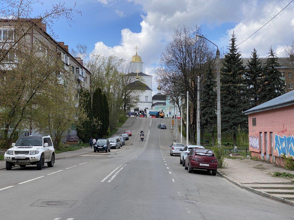 улица козлова и вознесенский собор смоленска