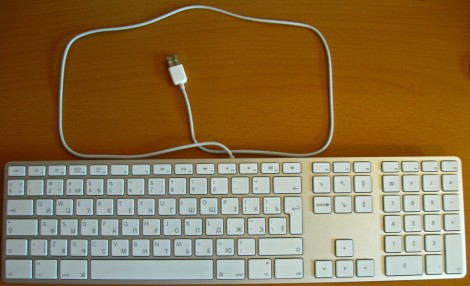 Длинна кабеля Apple MB110 Wired Keyboard White USB