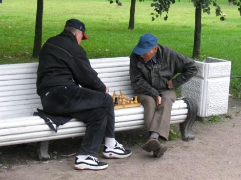Шахматисты в Таврическом